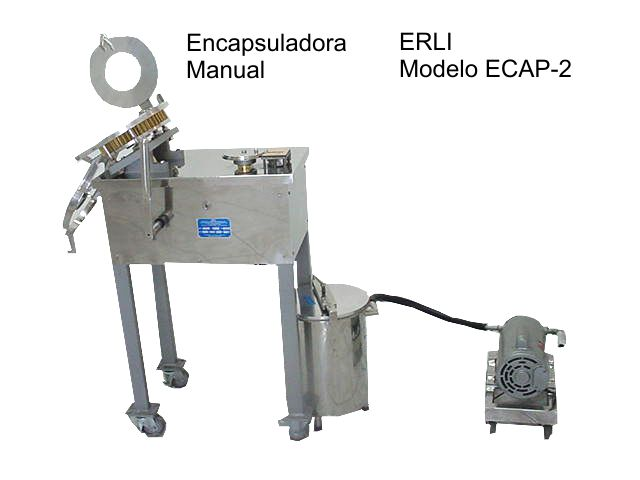 Encapsuladora  manual marca Erli